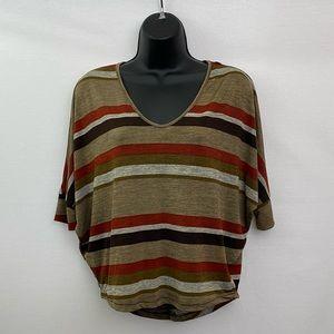 🎉3/$20 Body Central Short Sleeve Blouse Sz M M-31